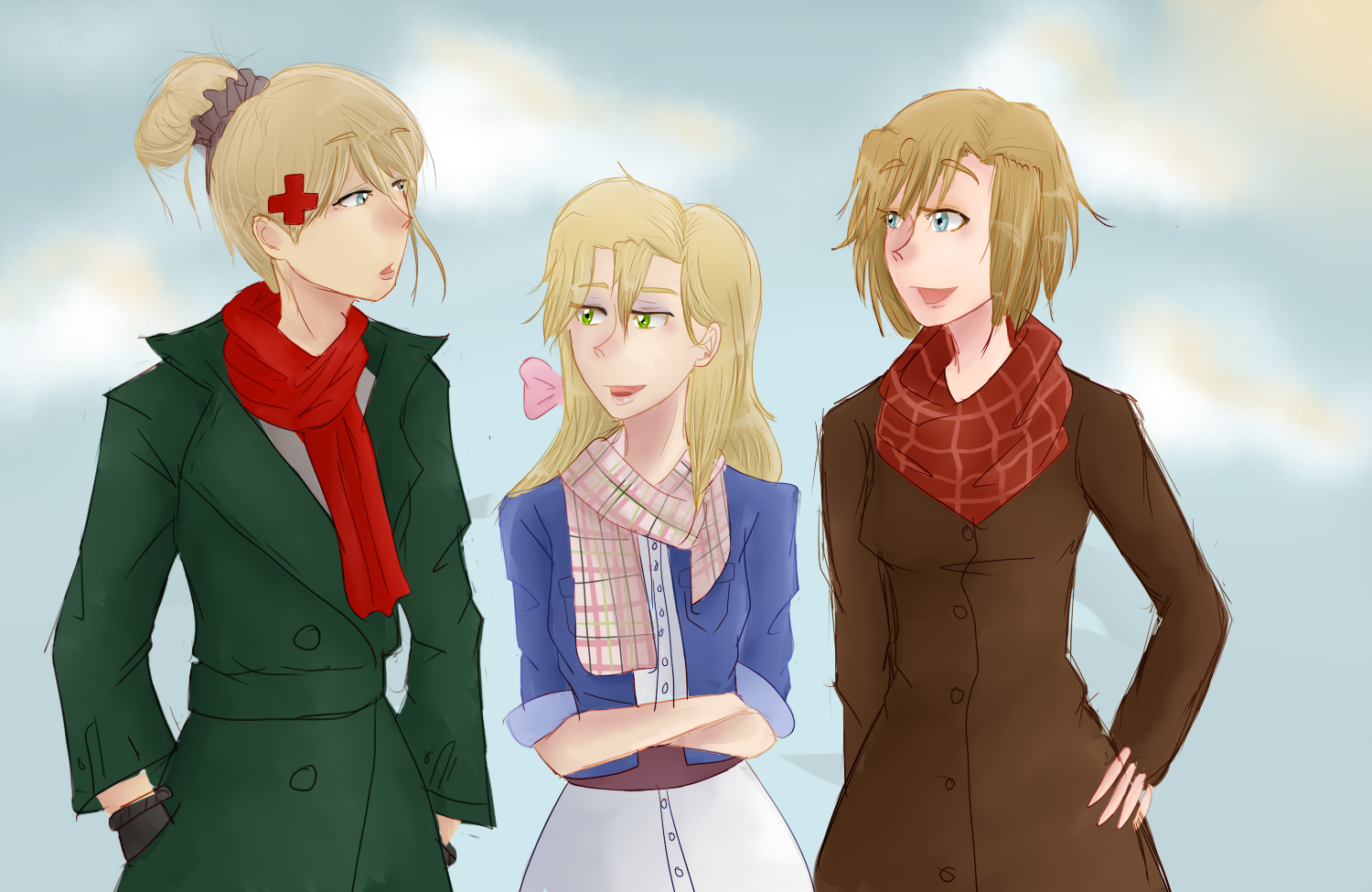 3 Women On A Walk by roppiepop