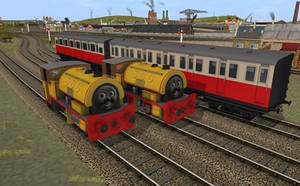 Bill and Ben and Express Coaches by No1ThomasFan