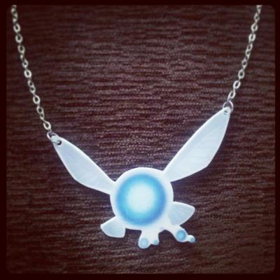 Legend of Zelda - Navi Necklace by KindaLikePoison