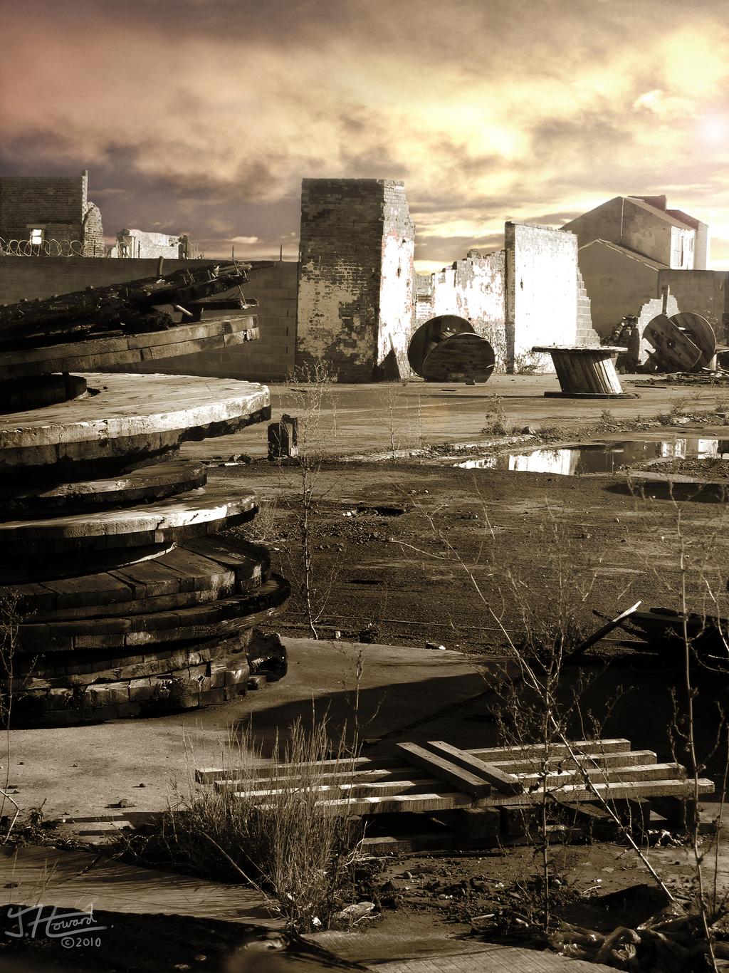 Spool stack wasteland by 8bit-swordsman