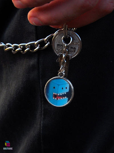 cute design keychain blue by Darkween