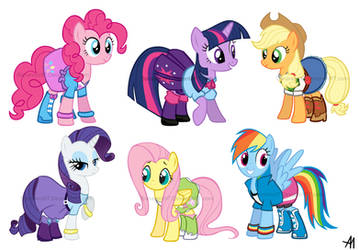 My Little Pony: Equestria Girls Outfits by BananimationOfficial