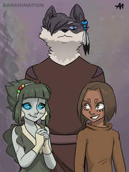 Angel, Amaroq, and Charles by BananimationOfficial