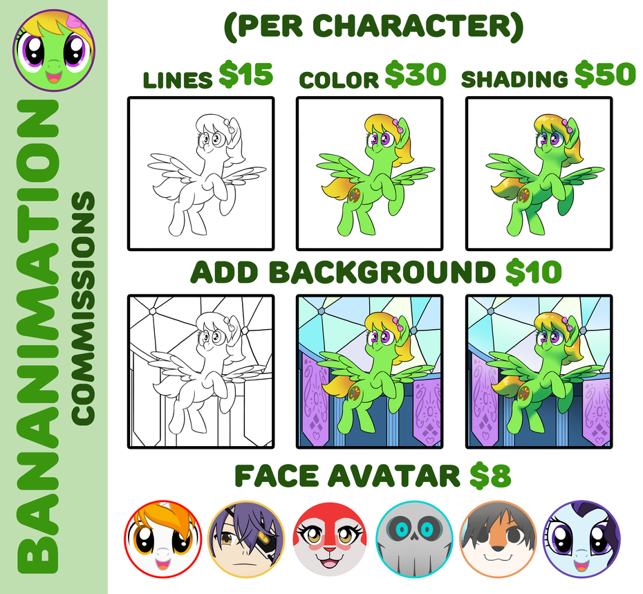 Commissions New by BananimationOfficial