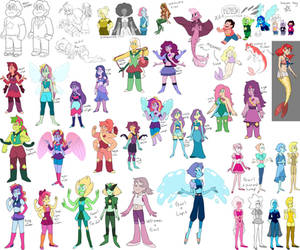 Dump - Mostly SU Pony Fusions by BananimationOfficial