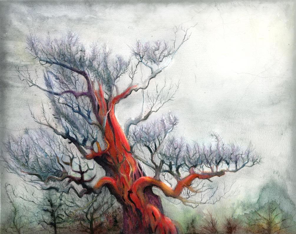 Red Pine II by Tistelmark