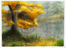 Autumn Lake by Tistelmark
