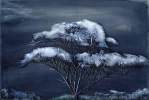 Night Tree by Tistelmark