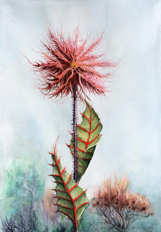 Crimson Flower by Tistelmark