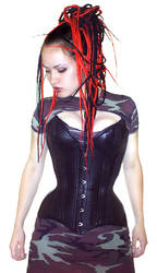 leather overbust corset by equanimity505