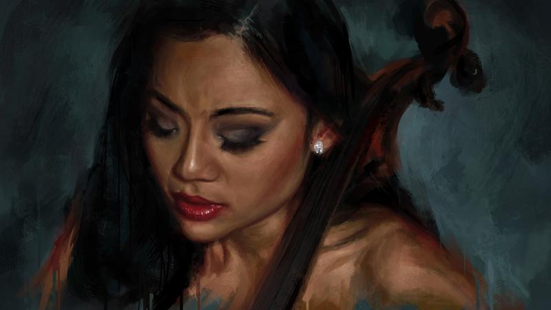 Tina Guo Digital Painting by vkupila