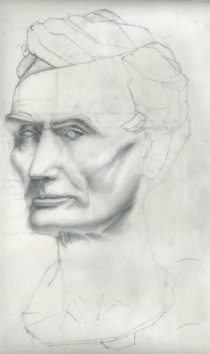 Lincoln Bust by Sne-aks