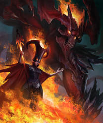 Fire queen by ArturNakhodkin