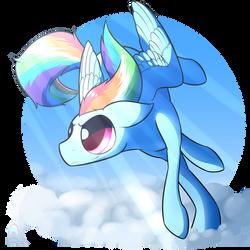 Blue Pony by greenpidge