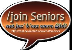 seniors chat baloon