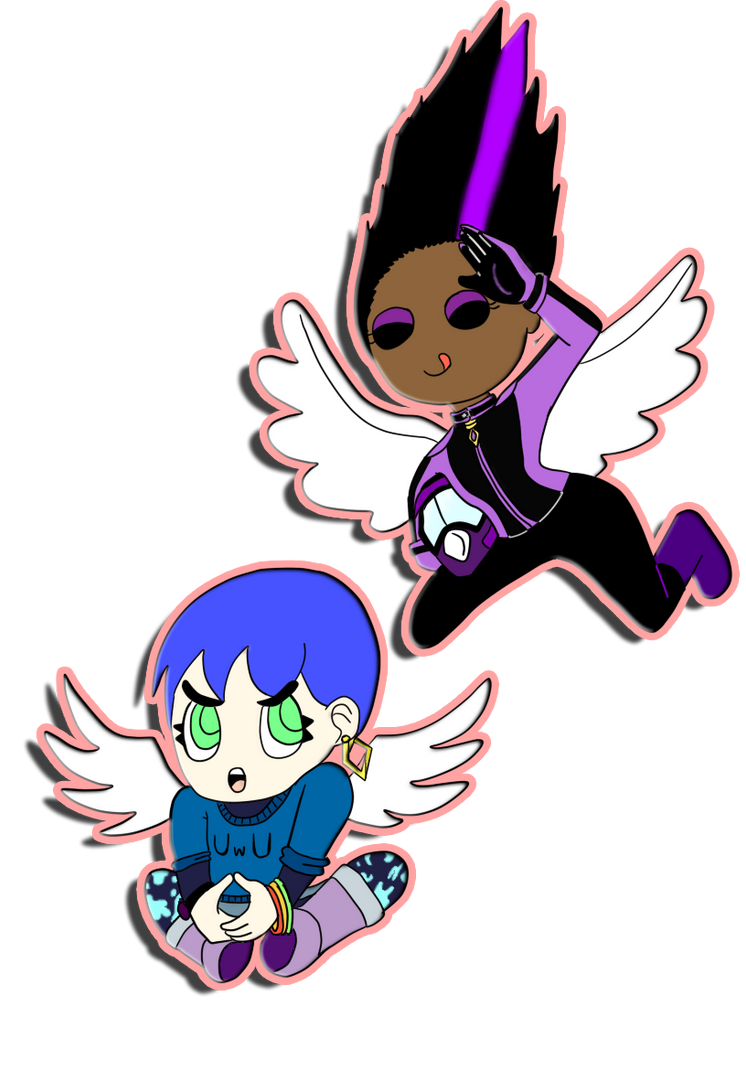 April drawing challenge #14 - Angels by Psychikos2