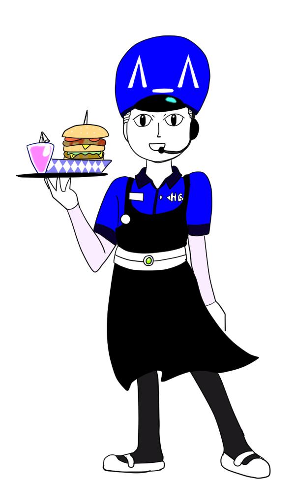 April drawing challenge #16 - HC employee uniform by Psychikos2
