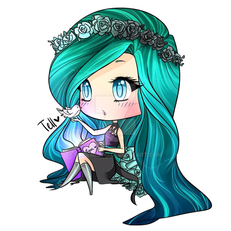 Pastel Goth Chibi For Lynn By Fa11enha1o On Deviantart
