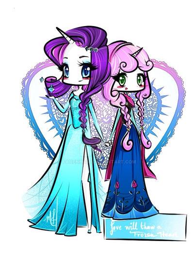 My Little Pony/Disney's Frozen by fa11enha1o