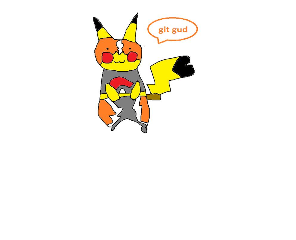 Luchador Pikachu git gud by MoistVaporeon