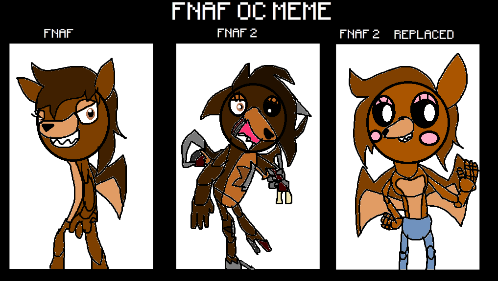 Fnaf rebecca the bat aka my animatronic form by thehypercutter on