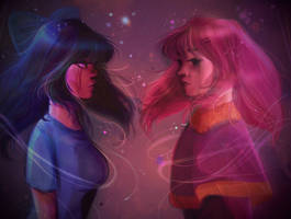 Sadie and Ellie  by Memori-P