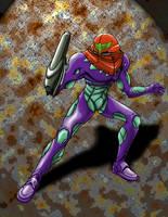 Fusion Suit Samus: Gravity by Stonechimes