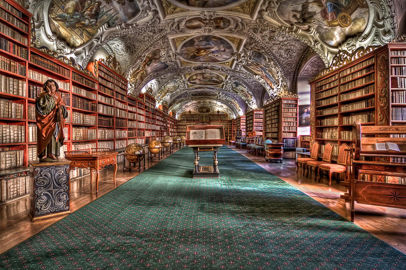Strahov Monastery Prague HDR by lesogard