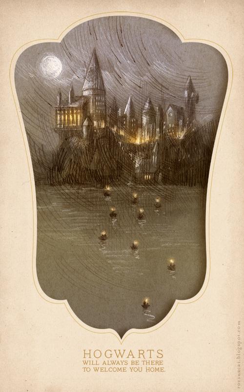 Hogwarts by RovinaCai