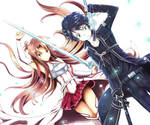 Asuna and Kirito SAO Wallpaper