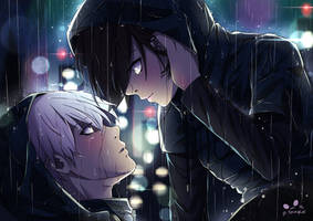 Kaneki x Touka - Under the rain by SpukyCat