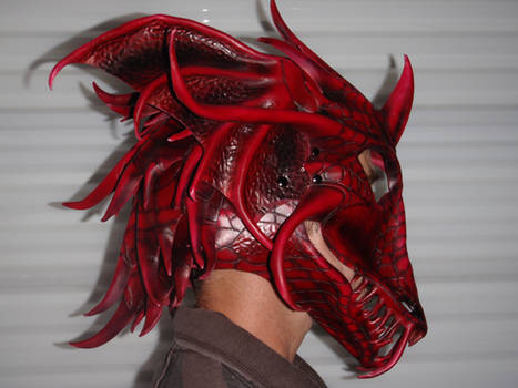 Dragon Helm worn side