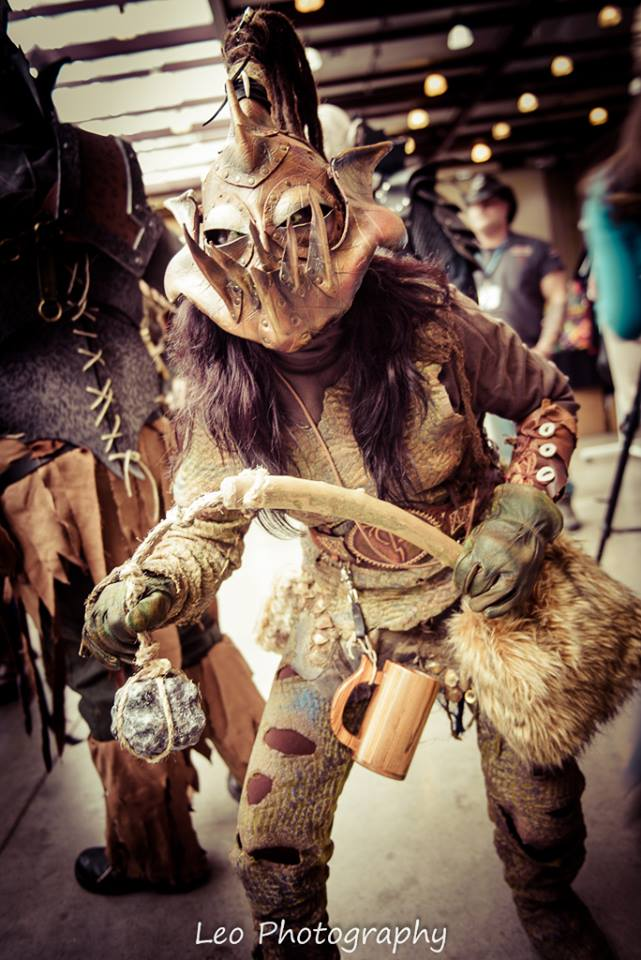 Squinter the Orc scout at Conooga 2015 by Red-Dragon-Lord