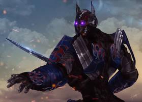 Optimus Prime Transformers the last knight Fanart by faraday1463