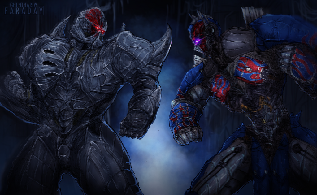 Optimus vs Megatron Transformer the last knight by ...