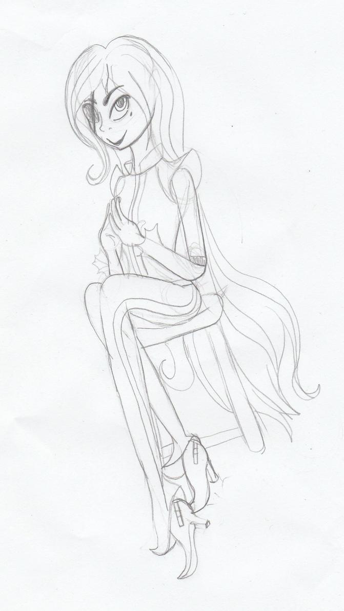 Zelda Concept Sketch by Dalia1784