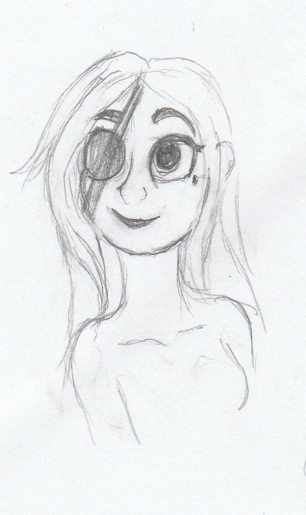 Zelda Caligari Bust Sketch by Dalia1784