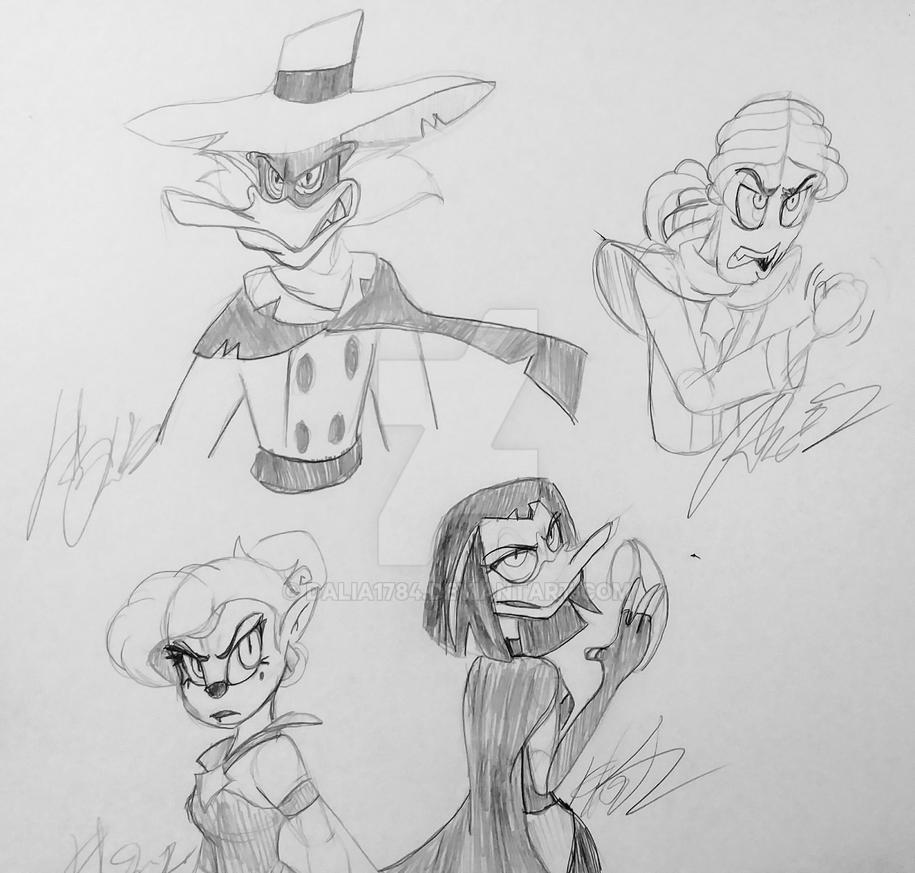 Villain Sketches by Dalia1784