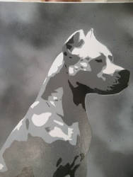dog painting by Stencilart101