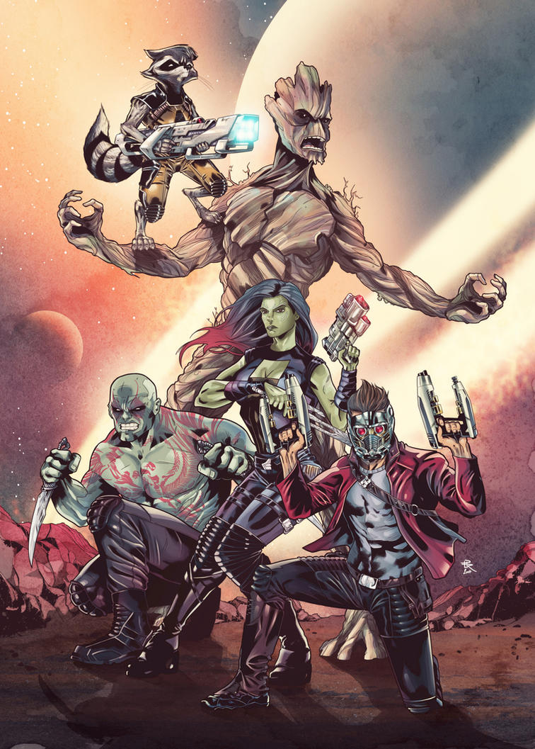 Guardians of the Galaxy by LudoDRodriguez