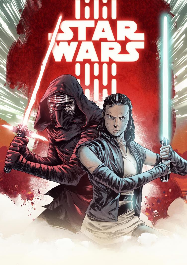 STAR WARS : Rey and Kylo Ren by LudoDRodriguez