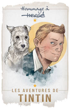 Tribute to Herge and The Adventures of Tintin