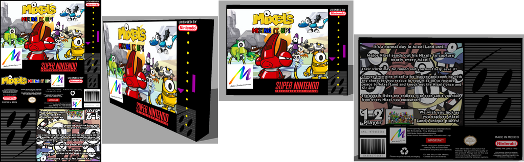 Fake Mixels SNES game box by TheYoshiState on DeviantArt