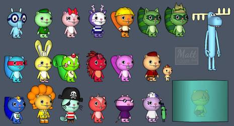 HTF Main Characters Sketchup 3D Renders