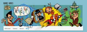 Cartoony Indie Game Studio Website Header by LaserDatsun