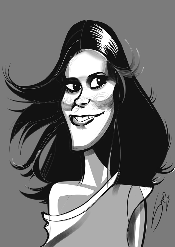 Carrie Fisher Sketch by LaserDatsun