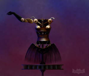 Steampunk Lady Dancing