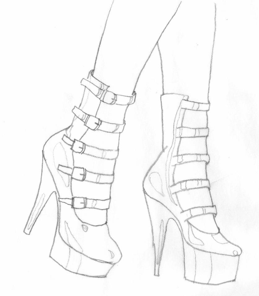 high heel drawing by dapopdude