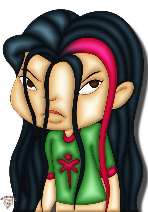 Juniper lee wet hair by DaPopDude