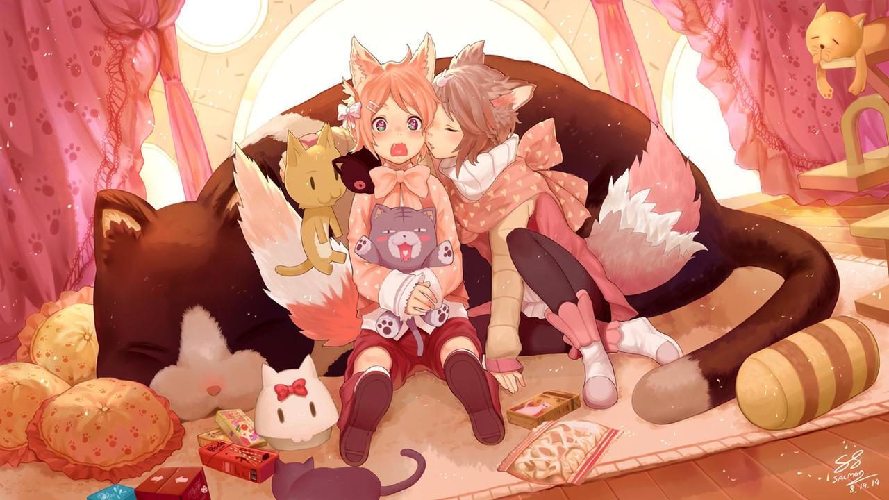 Kaoru and Kururu by Salmon88